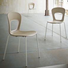 Blog - Sedia di design in metallo e tecnopolimero, impilabile, diversi colori, anche per esterno