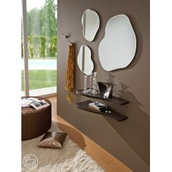 Pa305a modern entrance including shelves mirrors and for Mensola sopra termosifone