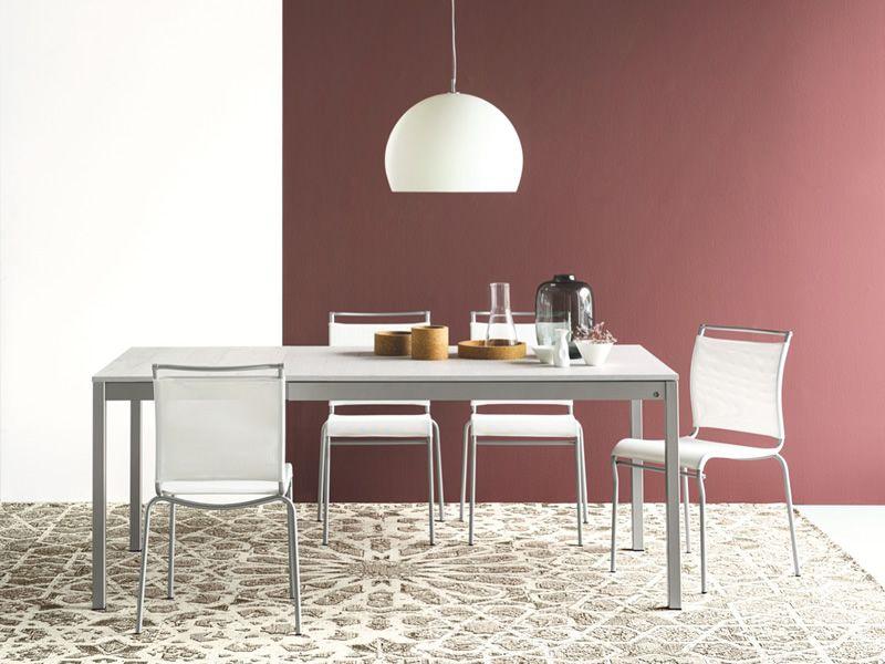 Cb4085 ml snap tavolo allungabile connubia calligaris in metallo piano in nobilitato - Tavolo con sedie diverse ...
