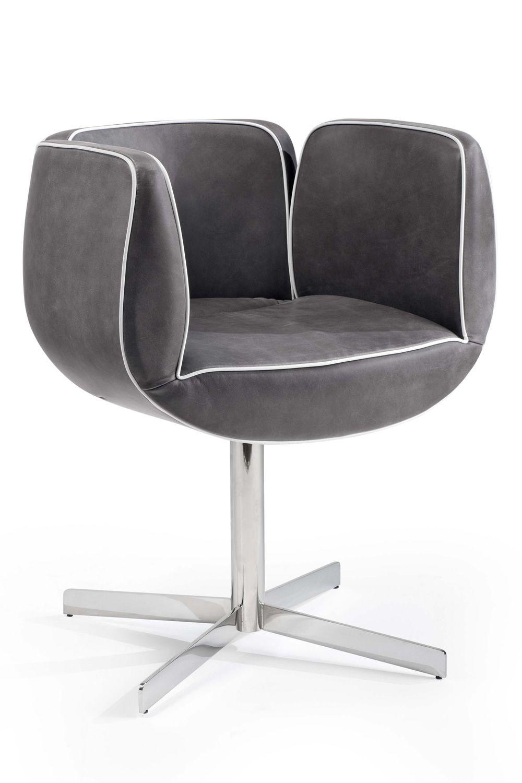 tulip office fauteuil visiteur de salle de r union pivotant disponible en tissu en cuir ou. Black Bedroom Furniture Sets. Home Design Ideas