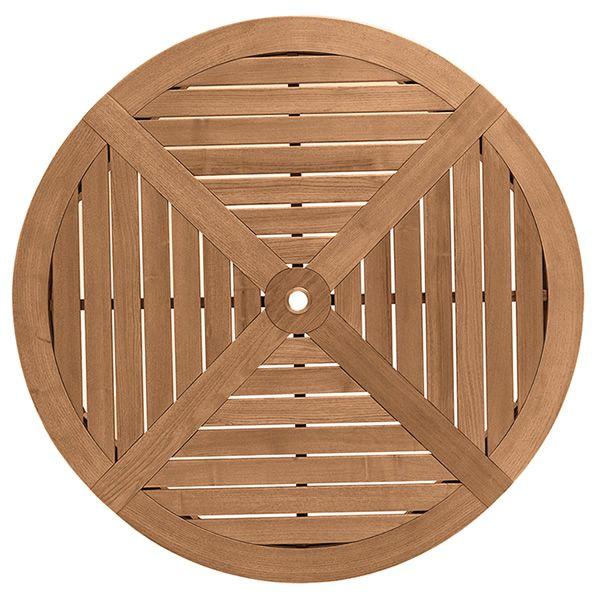 Dream table de jardin en bois de robinier diam tre 125 cm plateau central - Plateau tournant bois 60 cm ...