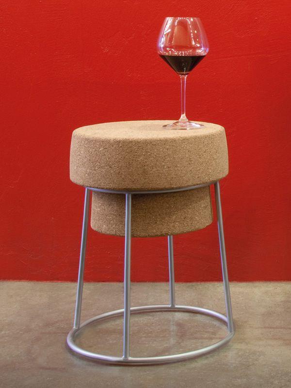bouchon b tabouret domitalia en m tal assise en li ge hauteur 46 cm sediarreda. Black Bedroom Furniture Sets. Home Design Ideas