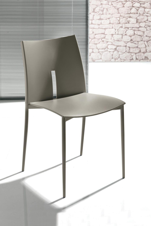 Las Vegas 44.40: Moderner Stapelstuhl aus Metall und ...