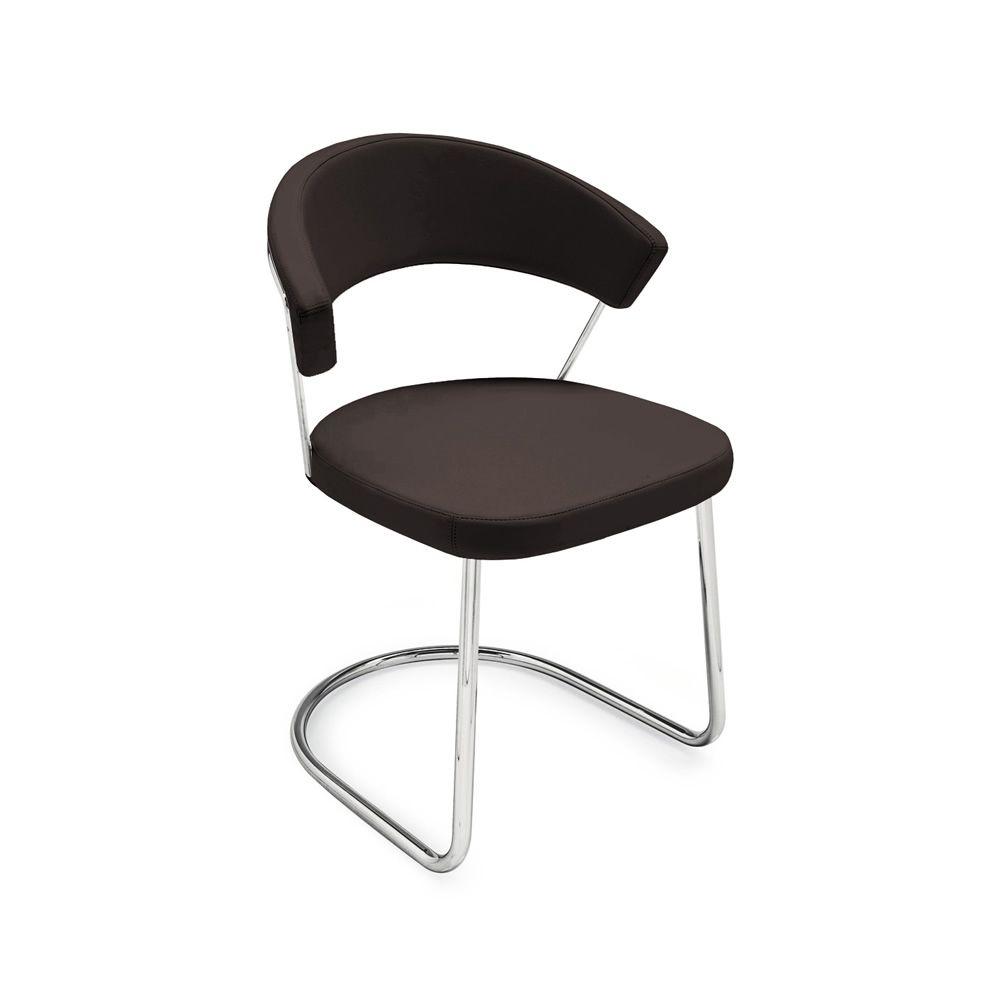 cs1111 gu new york chaise calligaris en m tal recouverte en simili cuir sediarreda. Black Bedroom Furniture Sets. Home Design Ideas