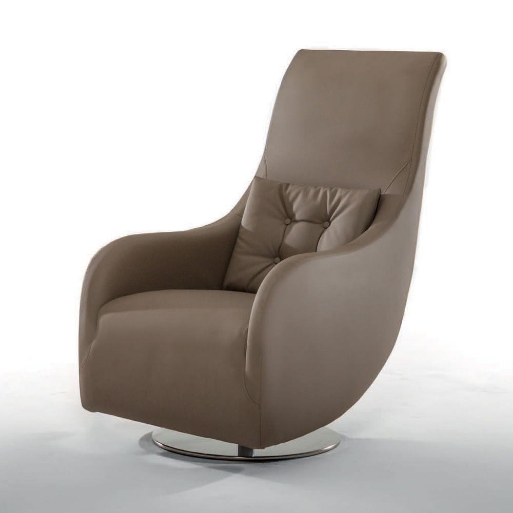 nolita drehbarer sessel tonin casa aus metall mit leder oder kunstleder bezogen sediarreda. Black Bedroom Furniture Sets. Home Design Ideas
