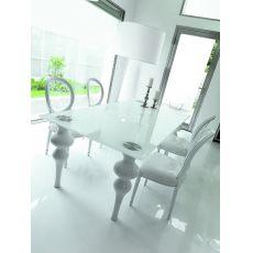Bronte Glass - Tavolo Colico Design in legno e vetro, fisso, rettangolare 210 x 100 cm, diversi colori disponibili