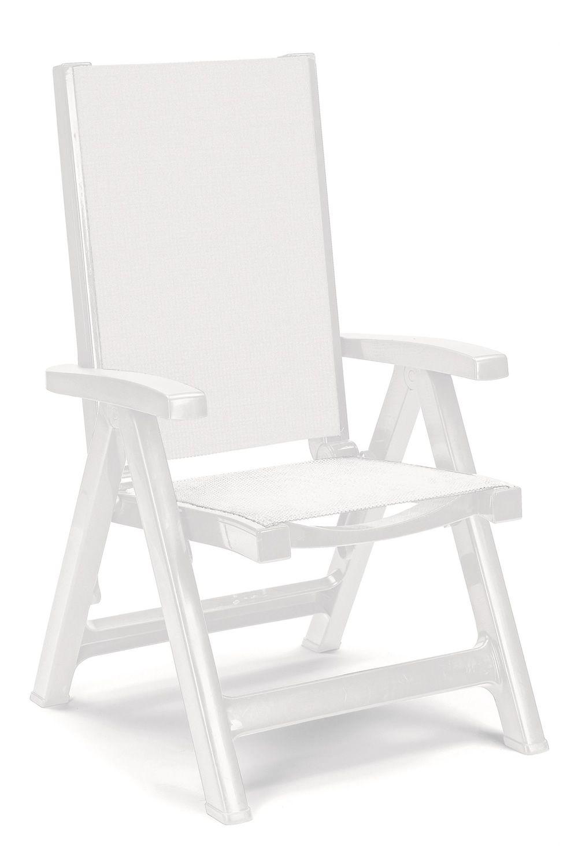 Esmeralda lux 2067 sedia a sdraio in polipropilene con for Sdraio giardino design