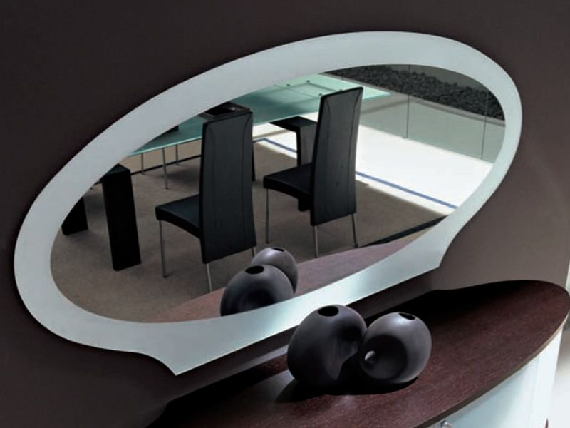 Akalla 7503 miroir elliptique tonin casa avec cadre en for Miroir elliptique