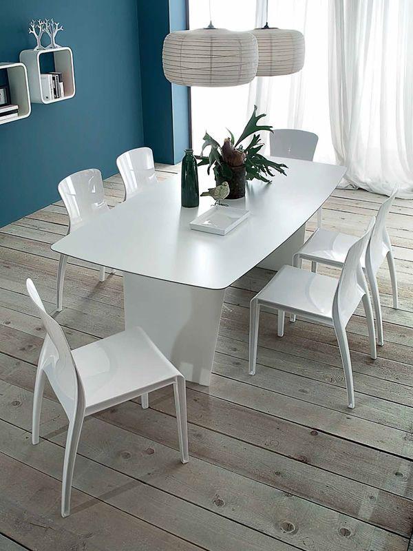 Crystal sedia impilabile domitalia in policarbonato sediarreda - Tavolo policarbonato ...