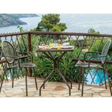 Cambi Q - Emu table made of metal, for garden, square top in several sizes and colours