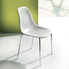 Baltimora 44.42 - Modern chair in metal and technopolymer, available in different colours