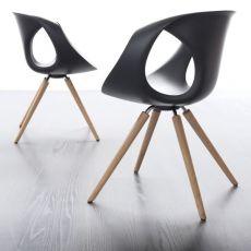 Up Chair  W - Sedia design di Tonon, in legno e poliuretano, diversi colori