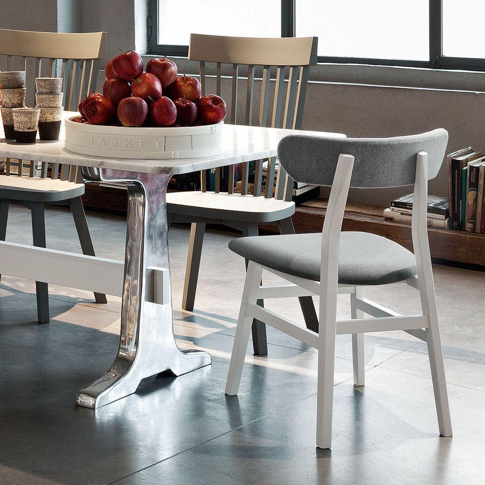 brick 221 stuhl gervasoni aus holz in verschiedenen bez gen verf gbar. Black Bedroom Furniture Sets. Home Design Ideas