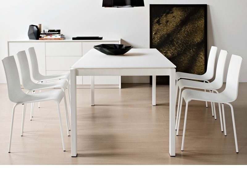 cs4010 mv 130 baron tavolo calligaris in metallo 130x85 On tavolo vetro bianco calligaris