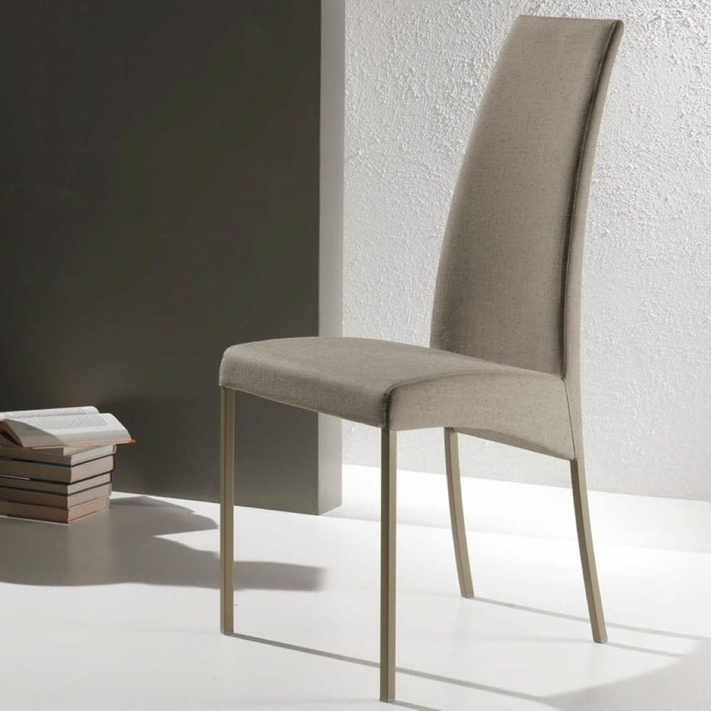 aida upholstered chair by bontempi casa in metal available in  - aida  chair in sand lacquered metal with seat covered with wool in sandcolour