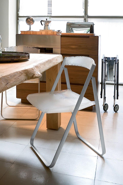 Honeycomb sedia pieghevole kartell in alluminio con - Sedia trasparente kartell ...
