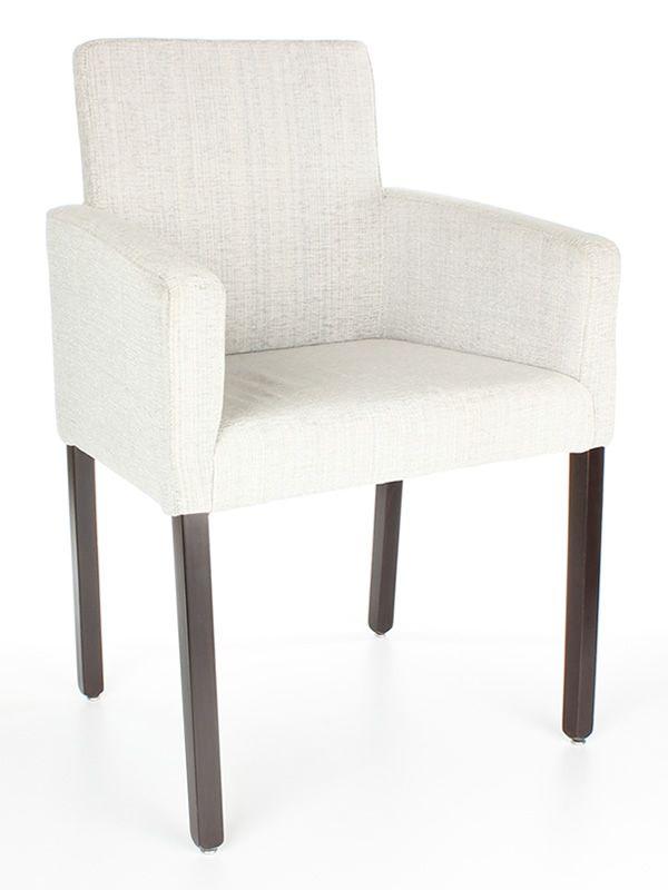 Mu56 silla de madera con apoyabrazos acolchada sediarreda for Sillas con apoyabrazos