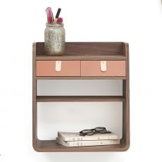 Suzon - Wall-mounted storage in wood, with two drawers