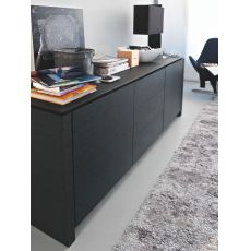 CS6029-1A Mag - Calligaris sideboard in wood and glass, 193 x 52 cm