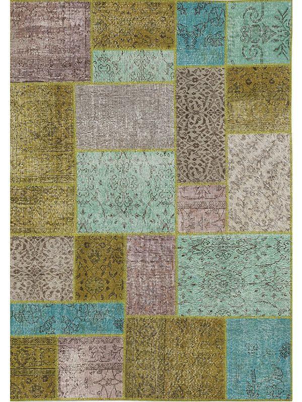 Antalya new mix   tappeto moderno colorato in pura lana vergine ...