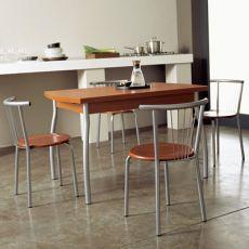 Kendo-M - Domitalia metal table, melamine top, 120 x 80 cm extendable