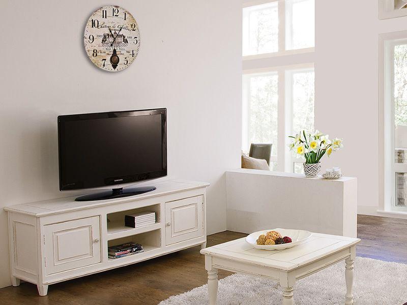 egadi meuble tv en bois 145x45 cm hauteur 60 cm. Black Bedroom Furniture Sets. Home Design Ideas