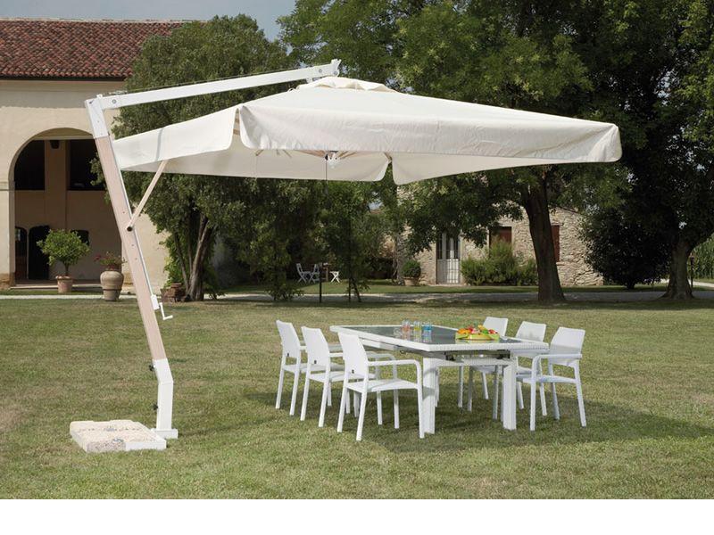 Omb25 per bar e ristoranti ombrellone da giardino con braccio laterale con struttura in - Ombrelloni da giardino offerte ...