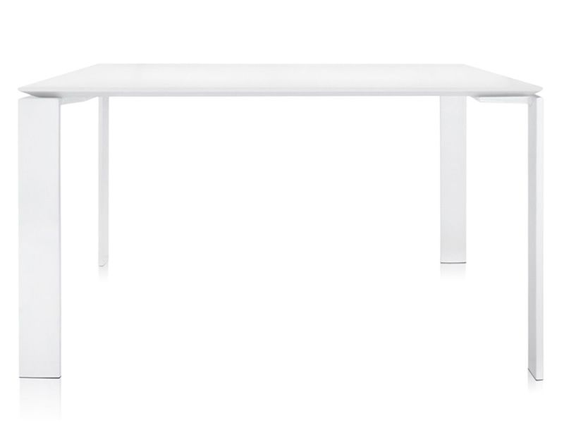 Four Outdoor Design Kartell Table For Outdoor In White Painted