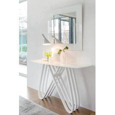 Arpa 6470 - Consolle Tonin Casa in legno con piano in vetro o marmo, diverse finiture disponibili