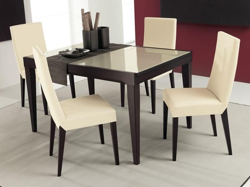 702 1v tavolo in legno con piano in vetro 130x90 cm for Tavolo wenge