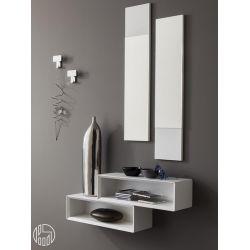 Pa604 meuble entr e avec miroirs et crochets disponible - Console d entree blanche ...