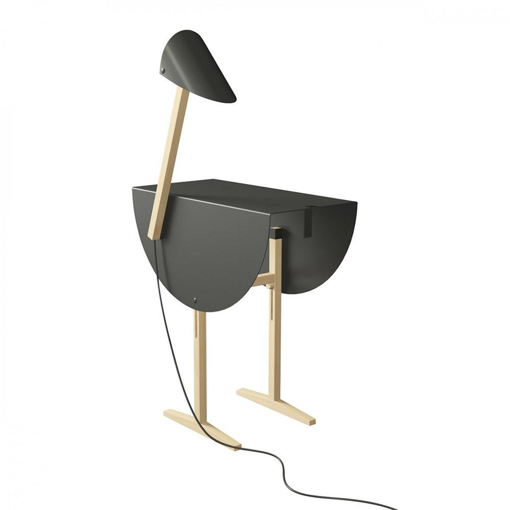 Ostrich table basse table de chevet valsecchi en bois et - Lampe de chevet metal ...