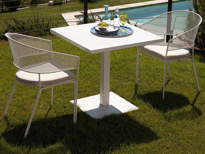 Eclipse 057 poltroncine in metallo verniciato bianco for Muebles jardin baratos modernos