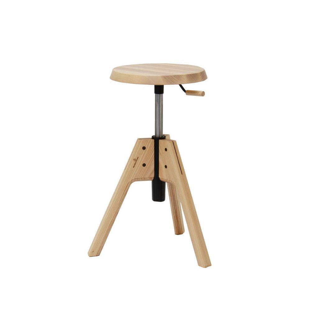 Pico sgabello girevole e regolabile valsecchi in legno for Sgabello legno ikea