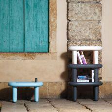 Snoop - Tavolino di design B-Line, in polietilene, impilabile, anche per esterno, disponibile in vari colori