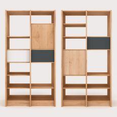 Domino - Libreria Universo Positivo in legno con elementi in metallo laccato