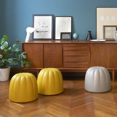 Gelée - Slide pouf in soft polyurethane, different colours, also for garden