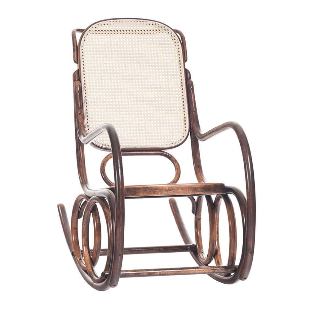 Dondolo sedia a dondolo ton in legno curvato sedile in for Sedie a dondolo