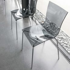 7204 Aria Easy - Tonin Casa design chair, metal and polymeric of several colour, stacking