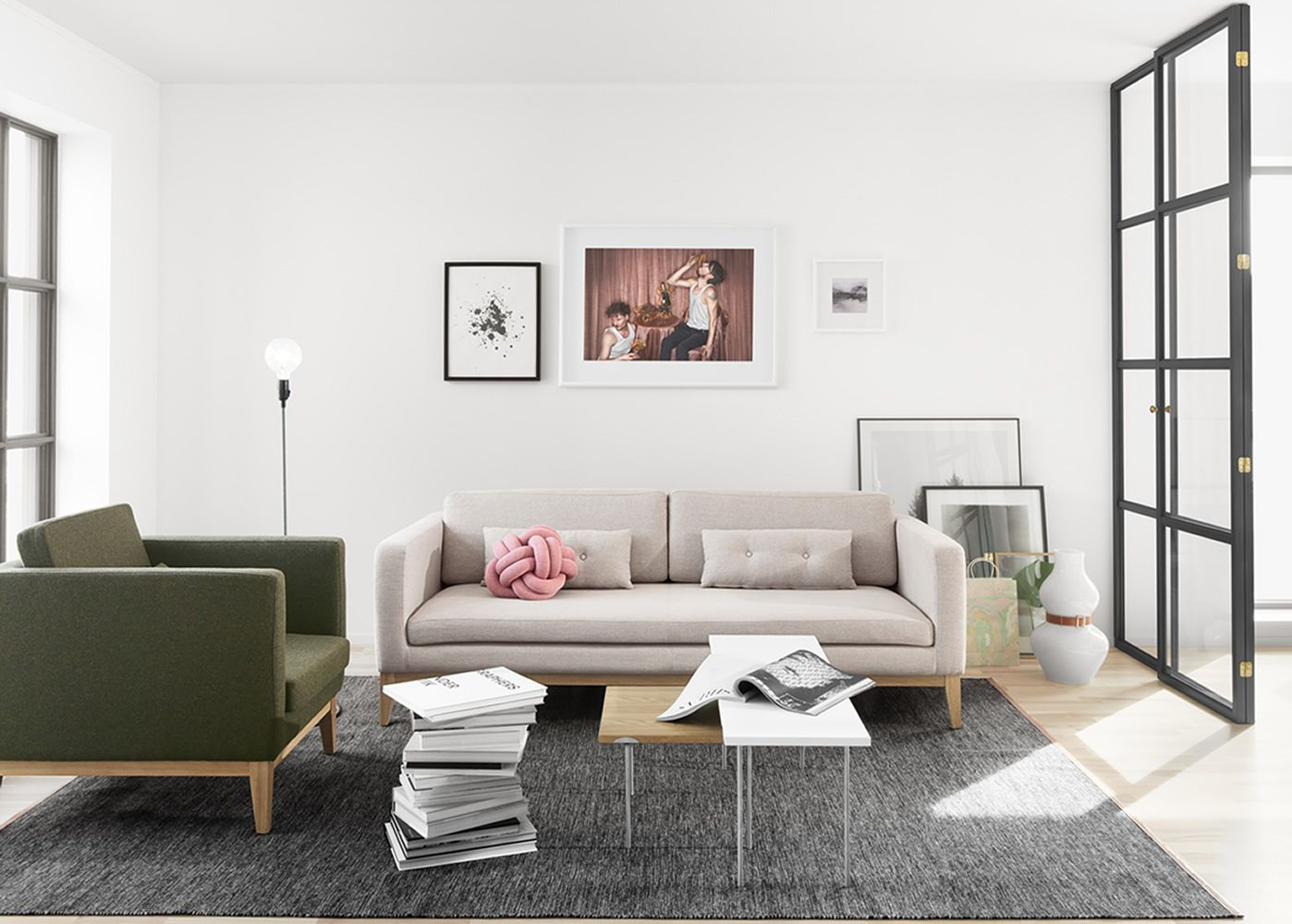 day canap avec structure et pieds en bois rembourr et rev tu en tissu disponible en. Black Bedroom Furniture Sets. Home Design Ideas