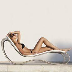 Breez - L - Bain de soleil de design, en métal, pour extérieur