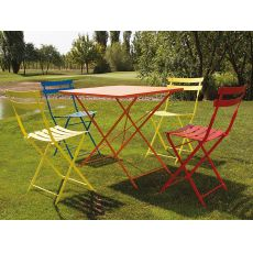 Roy-T - Folding table in metal, available in different sizes and colours