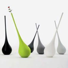 Ampoule - Vase design - lampe à poser au sol en technopolymère, disponible dans différentes couleurs, parfaite pour l'extérieur