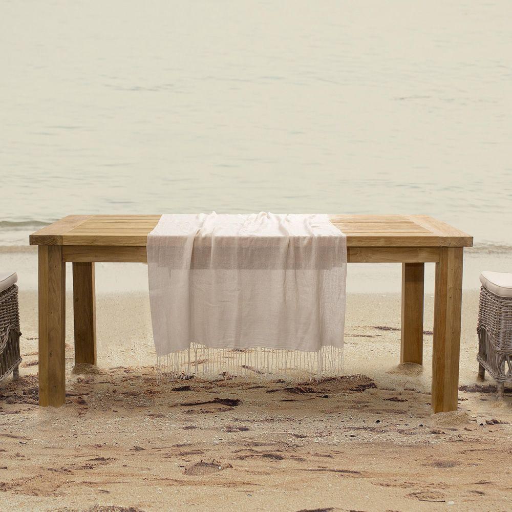 Garda - Tavolo in teak, piano rettangolare 240x100 cm, anche per ...