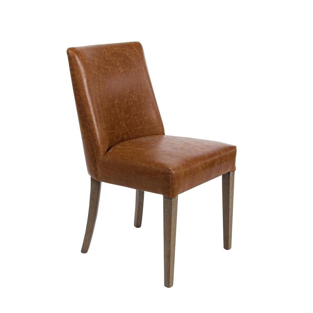 tebe vintage chaise vintage en bois et en similicuir. Black Bedroom Furniture Sets. Home Design Ideas