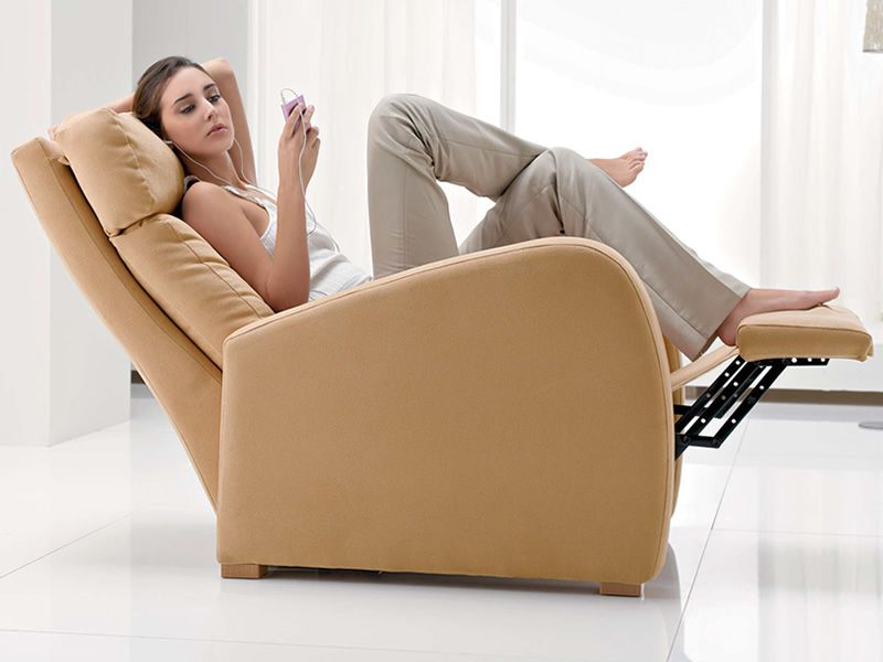 Dhyana moderno sill n relax manual revestimiento en tela o ecopiel desenfundable sediarreda - Sillon relax moderno ...