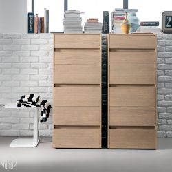 zip d commode haute dall 39 agnese en bois disponible en plusieurs finitions six tiroirs. Black Bedroom Furniture Sets. Home Design Ideas
