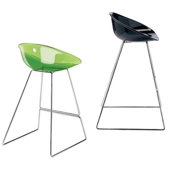 gliss 902 design hocker pedrali aus metall und polycarbonat erh ltlich in verschiedenen farben. Black Bedroom Furniture Sets. Home Design Ideas