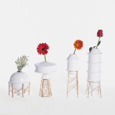 Industry - White ceramic vase, available in different models