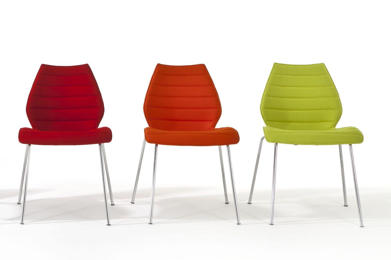 Maui soft sedia kartell di design in metallo con seduta - Sedia di design ...